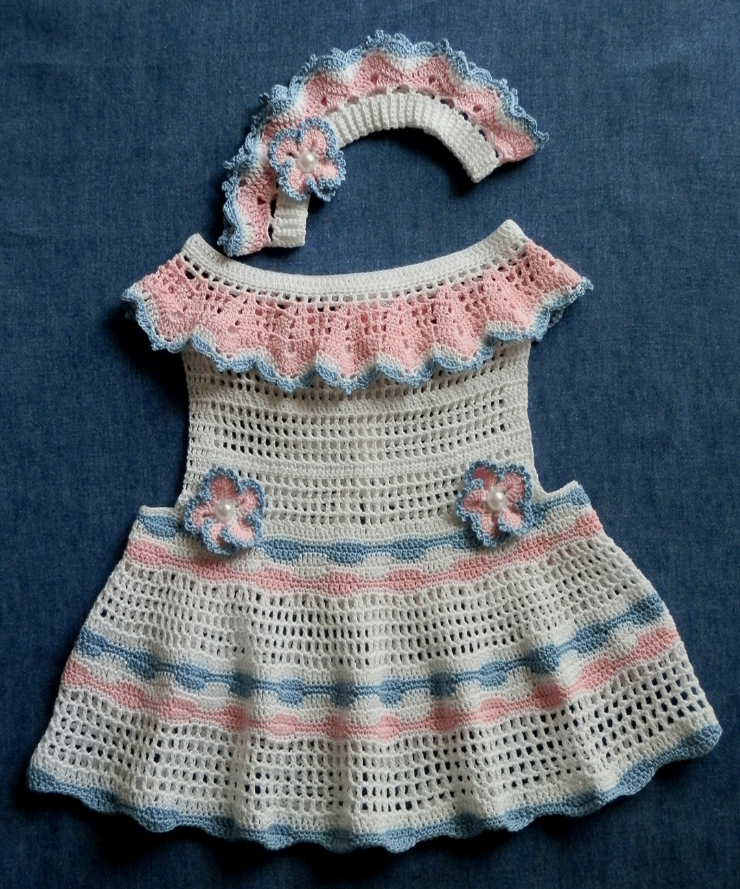 Baby Girl Sun Dress and Matching Le Petite Bandeau 12-18mo