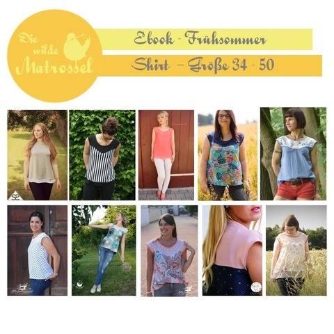 Ebook Frühsommer-Shirt Größe 34-50  bei Makerist