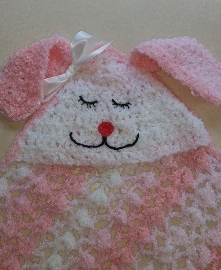 Hooded Bunny Blanket Crochet Pattern  at Makerist - Image 1