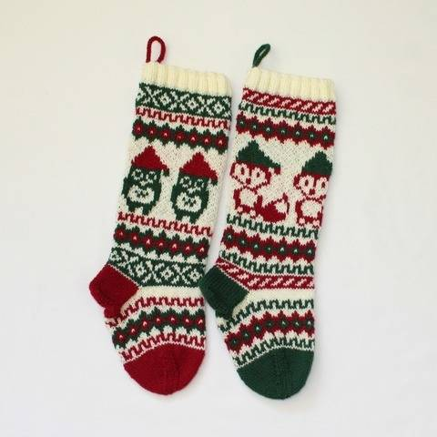 Christmas stocking - Santa Fox and Owl at Makerist