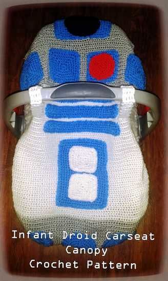 Infant Droid Car Seat Canopy Crochet Pattern Inspired by R2D2 at Makerist - Image 1