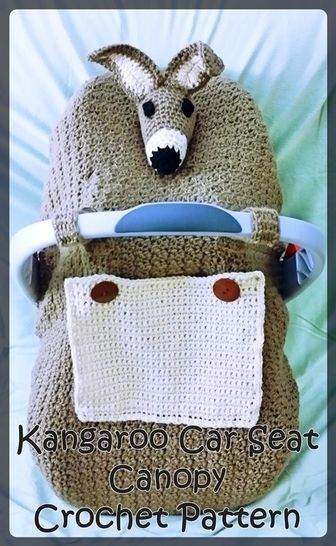Kangaroo Infant  Car Seat Canopy Crochet Pattern  at Makerist - Image 1