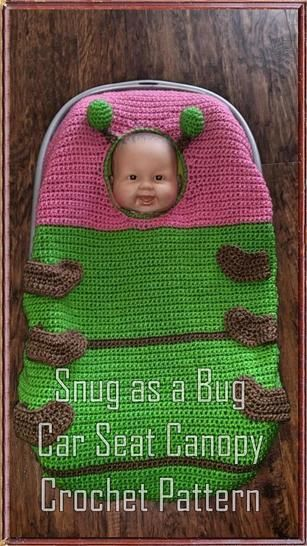 Snug as a Bug Infant Car Seat Canopy Crochet Pat at Makerist - Image 1