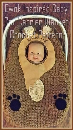 Ewok Inspired Baby Car Carrier Blanket Crochet Pattern at Makerist - Image 1