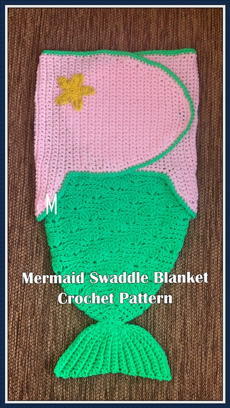 Mermaid Swaddle Blanket Crochet Pattern