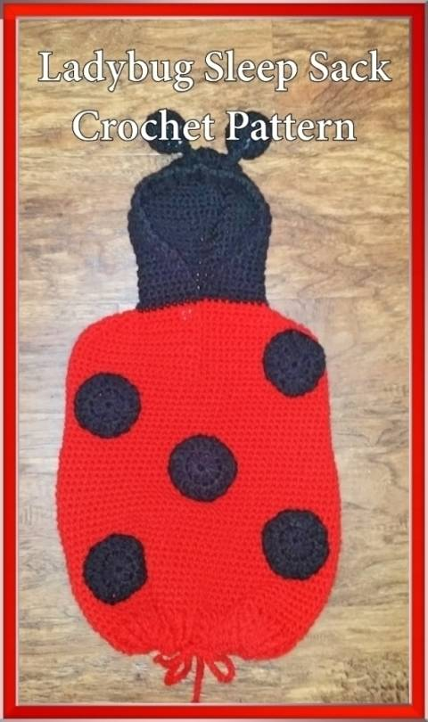 Ladybug Sleep Sack Crochet Pattern