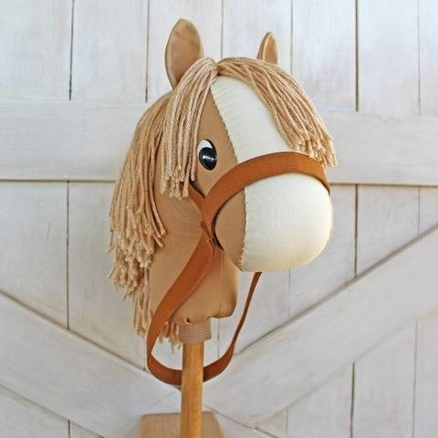Classic Stick Horse Hobby Horse with Unicorn