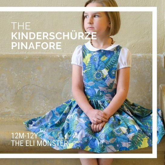 The Kinderschürze Pinafore Sewing Pattern 12m-12y at Makerist - Image 1
