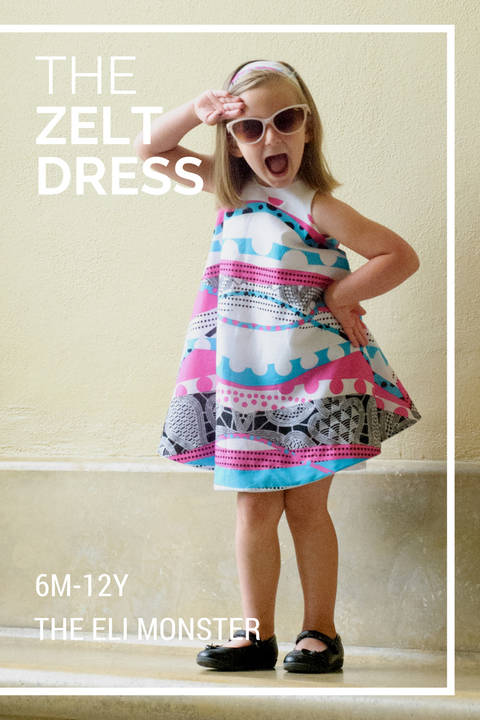 The Zelt Dress - Sewing Pattern for Sizes 6mo-12y