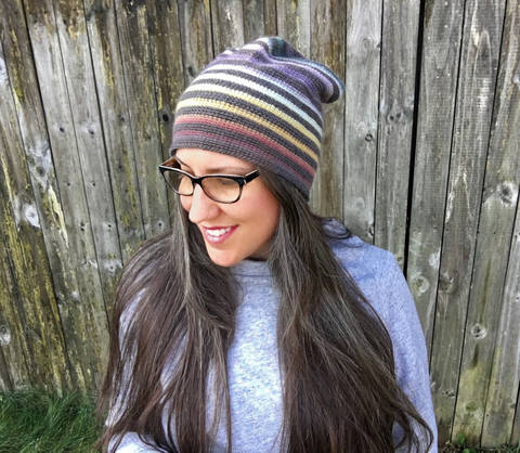 All Ages Very Versatile Striped Beanie at Makerist