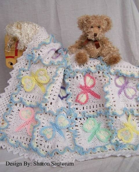 Dragonfly Dreams Baby Blanket Crochet Pattern at Makerist