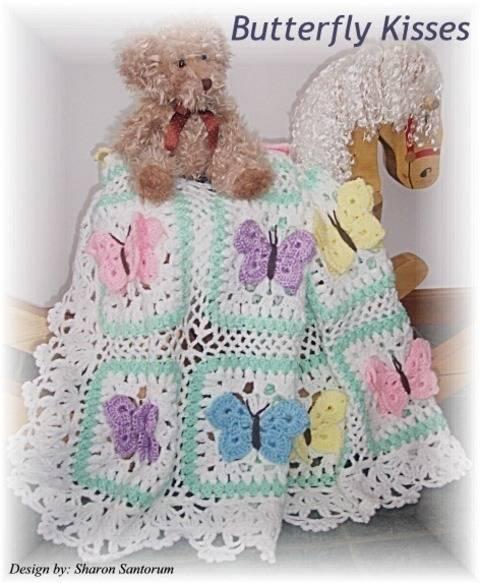 Beautiful Butterfly Kisses Baby Afghan Crochet Pattern at Makerist