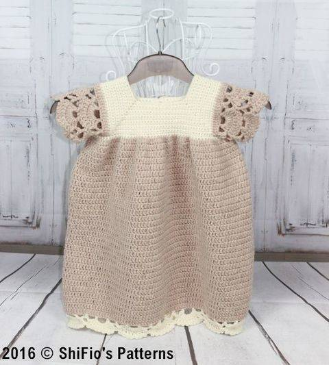 CP349 Girl's Dress Crochet Pattern  #349
