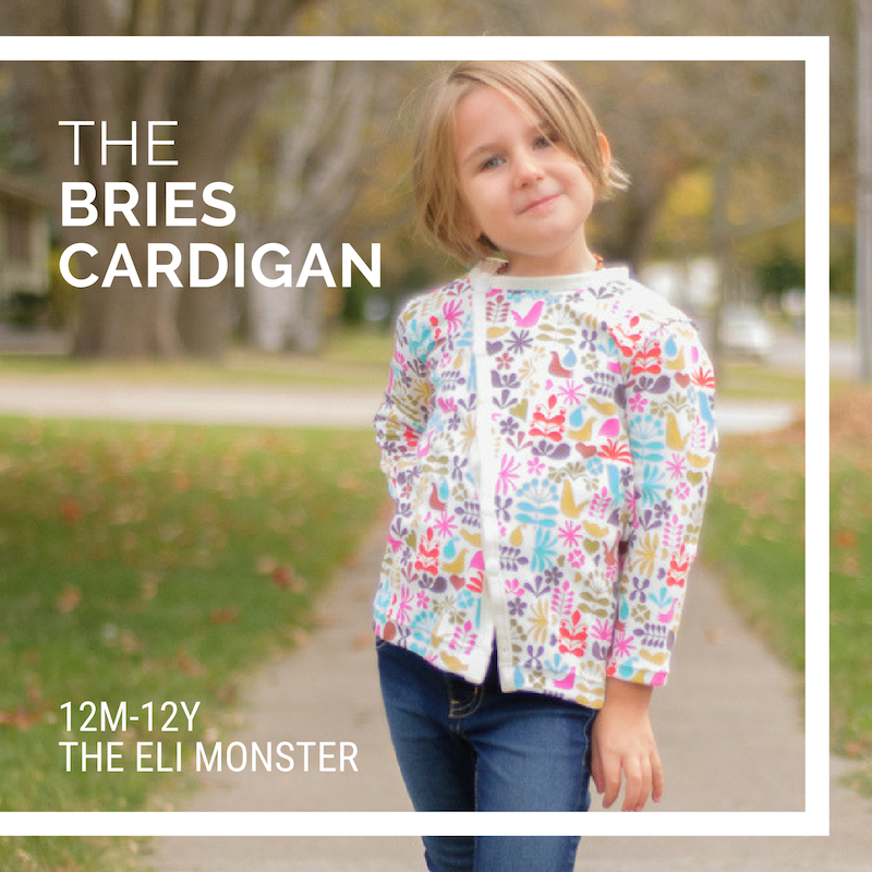 The Bries Cardigan - sewing pattern for sizes 1y-12y