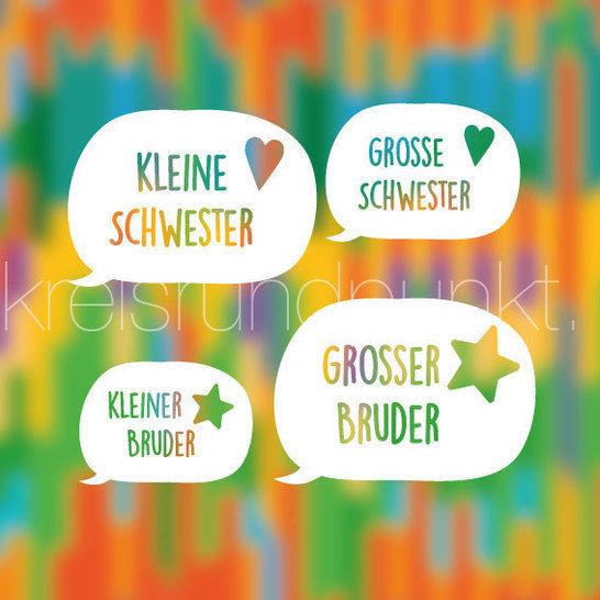 Plotterdatei Geschwister Sprechblase bei Makerist - Bild 1