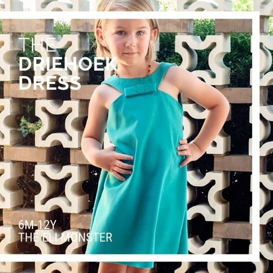 The Driehoek Dress - Sewing Pattern for sizes 12m-12y at Makerist - Image 1