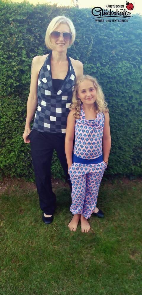 """E-Book Jumpsuit """"SummerBreeze"""" Mama-Tochter-Paket bei Makerist"""