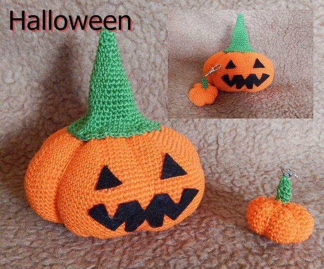 Halloween Kürbis mit Schlüsselanhänger - Häkelanleitung  bei Makerist - Bild 1