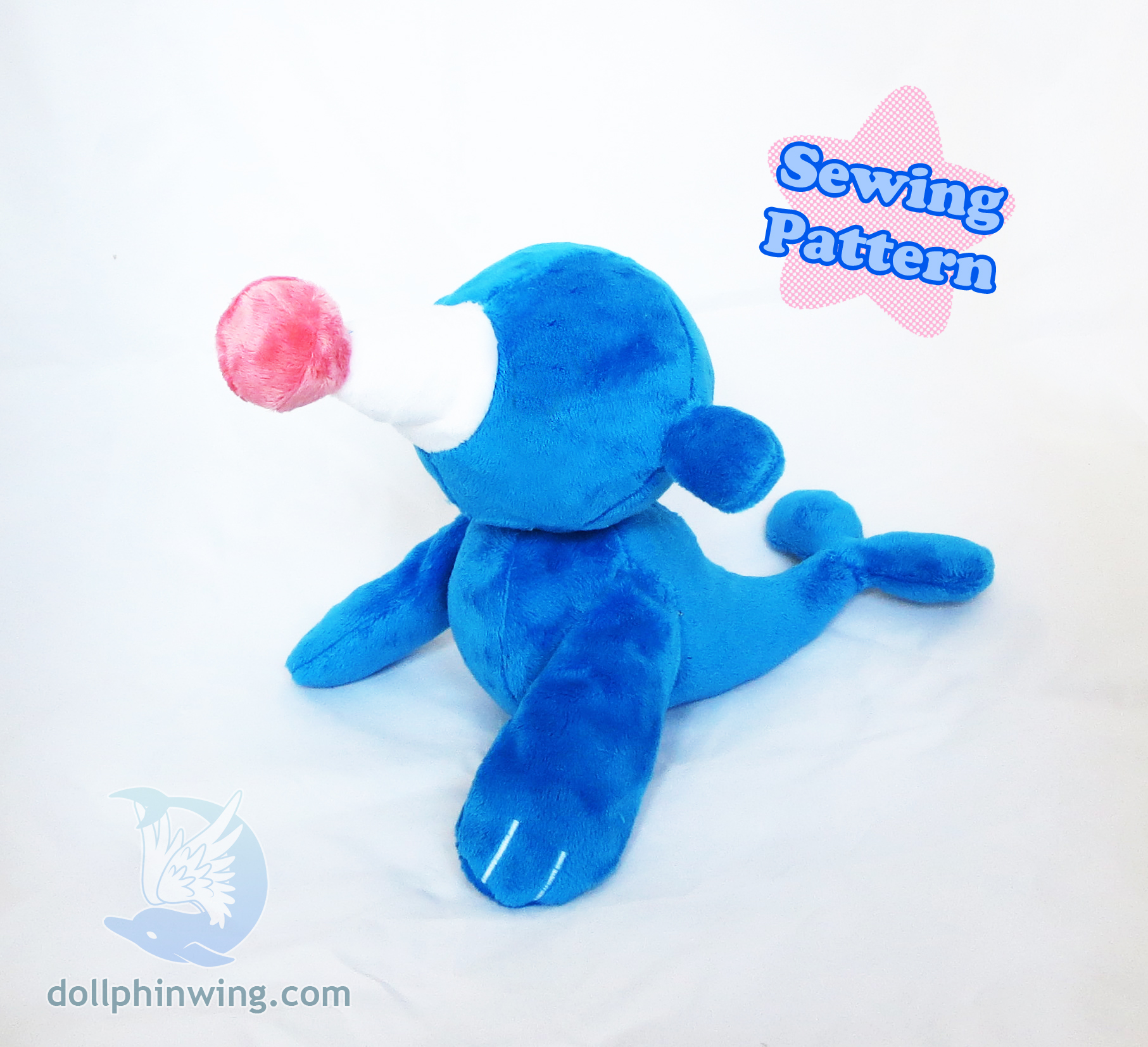 Circus Seal Plushie Sewing Pattern