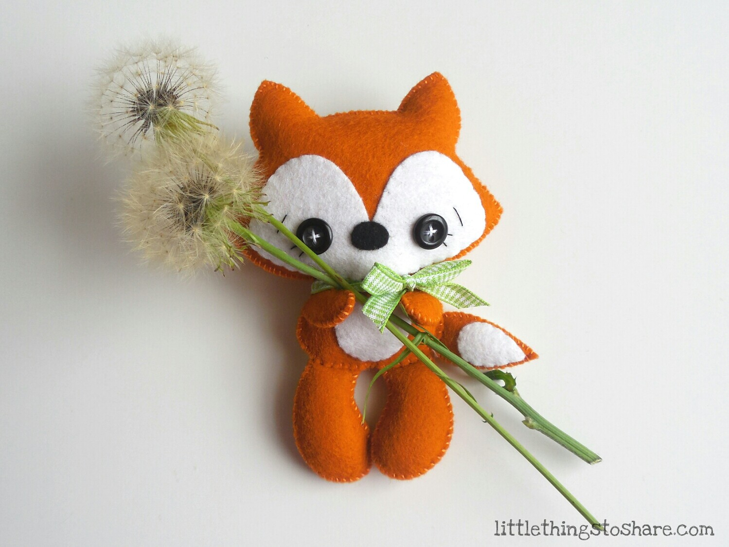 Tail Fox PDF pattern-Woodland animals toy-DIY
