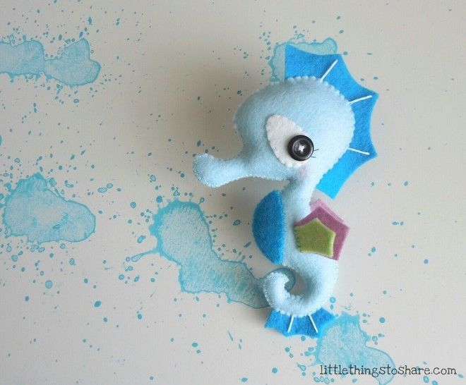 Seahorse toy pattern-DIY-Felt Seahorse ornament at Makerist - Image 1