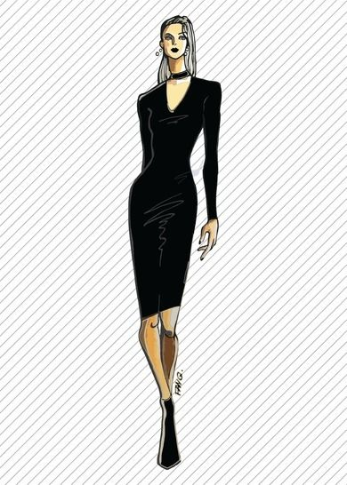DR303 Bodycon cut-out dress - PDF sewing pattern at Makerist - Image 1