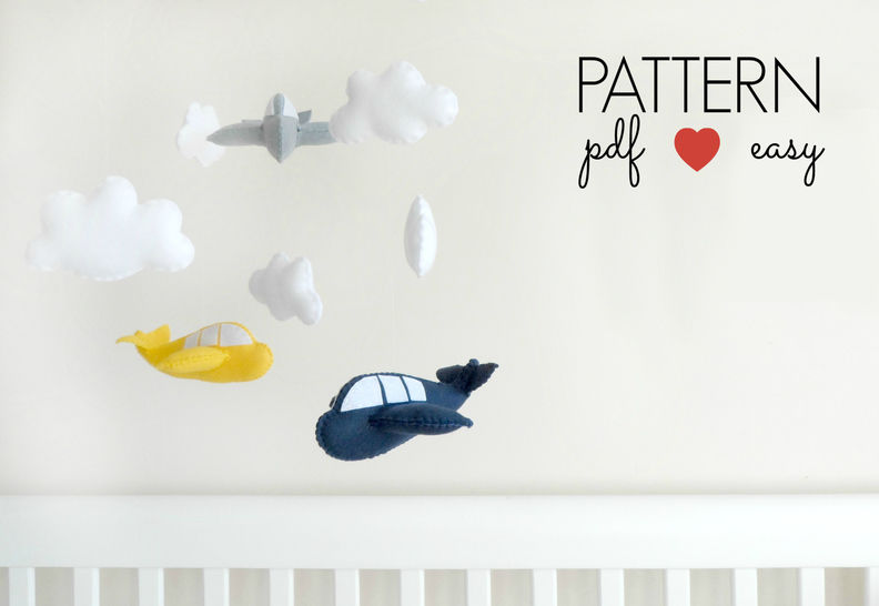 Felt Aeroplane Airplane Sewing Pattern  at Makerist - Image 1