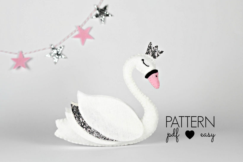 Swan Felt Sewing Pattern at Makerist - Image 1