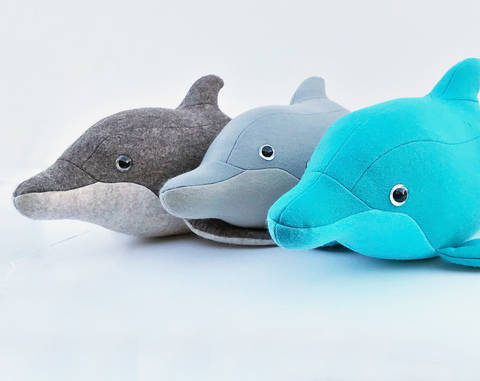 Dolphin sewing pattern, 3D soft toy  at Makerist