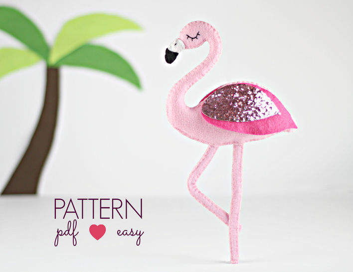 Flamingo Felt Sewing Pattern  at Makerist - Image 1
