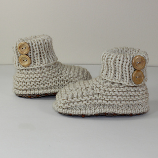 Toddler Chunky 2 Button Booties