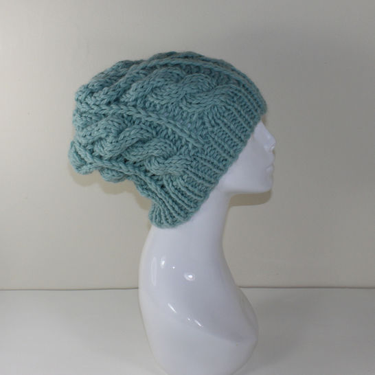 Super Chunky Cable Slouch Hat at Makerist - Image 1