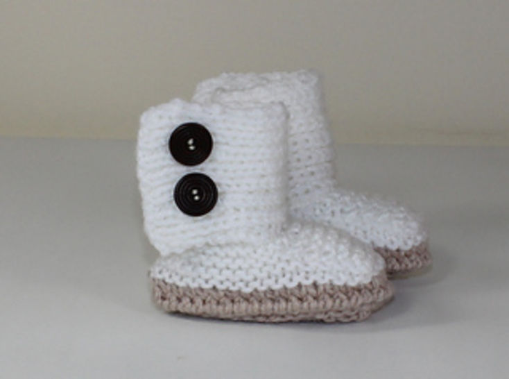 Baby Chunky Button Up Booties at Makerist - Image 1