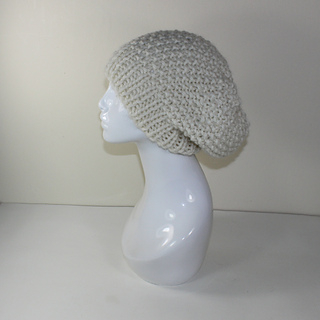 Super Chunky Moss Stitch Slouch Hat
