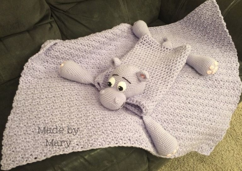 Harvey the Hippo Blanket Buddy at Makerist - Image 1