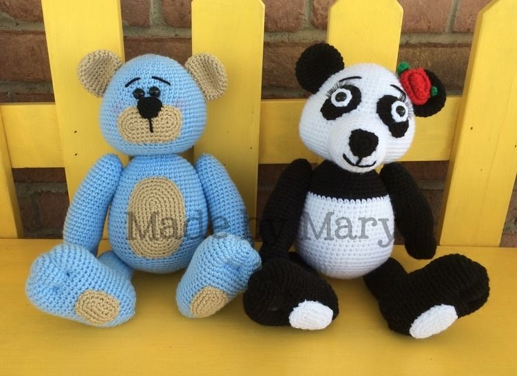 Piper the Panda and Bentley the Bear at Makerist - Image 1