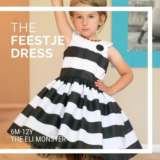 The Feestje Dress - Sewing Pattern for Sizes 6m-12y at Makerist - Image 1