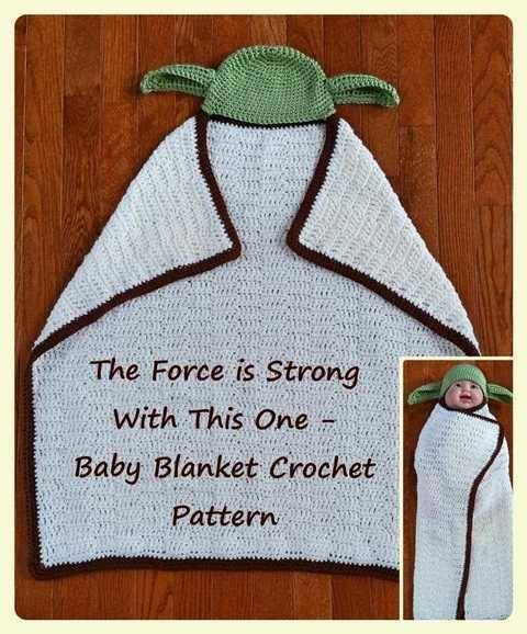 The Force is Strong with This One - Hooded Baby Blanket Crochet Pattern                      at Makerist
