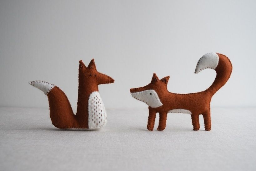 Alphonsus & Freya Fox sewing pattern – DIY embroidery sewing pattern for woodland animals softies playset at Makerist - Image 1
