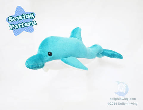Dolphin Plushie Sewing Pattern at Makerist