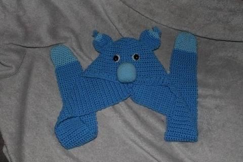 Koalamütze mit Schal in drei Größen