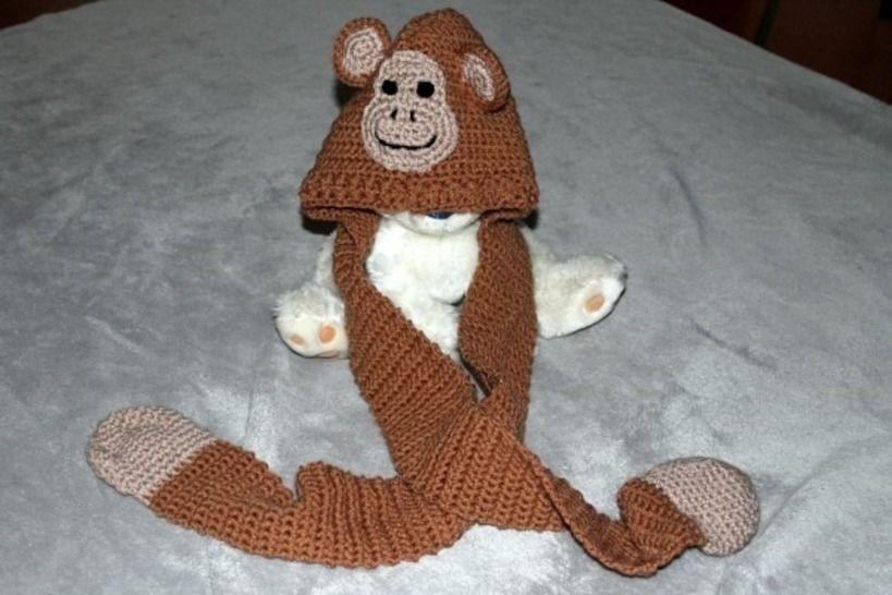 Affenmütze mit Schal in drei Größen bei Makerist - Bild 1