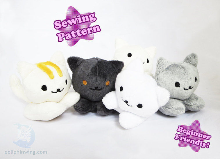 Cute Kitten Beanie Plush Pattern at Makerist - Image 1