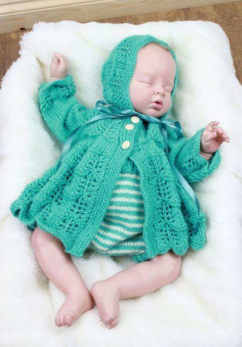 KP324 Missy Japonica jacket hat and pants baby knitting pattern #324