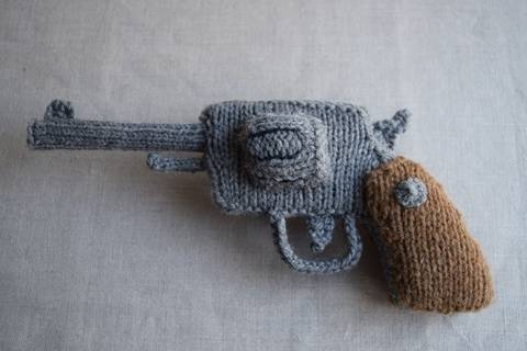 Knitted Revolver PDF Pattern - Knitting pattern for a gun at Makerist