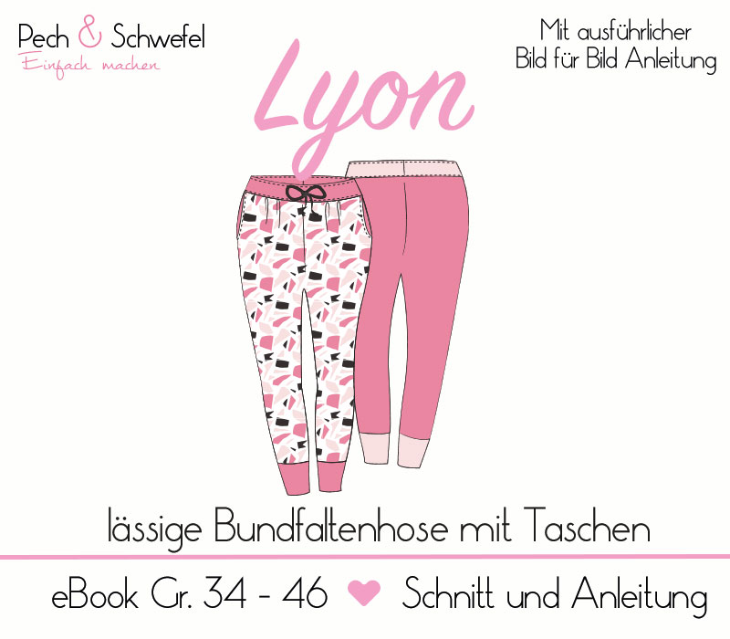 Ebook Schnittmuster – Lyon die coole Jerseyhose