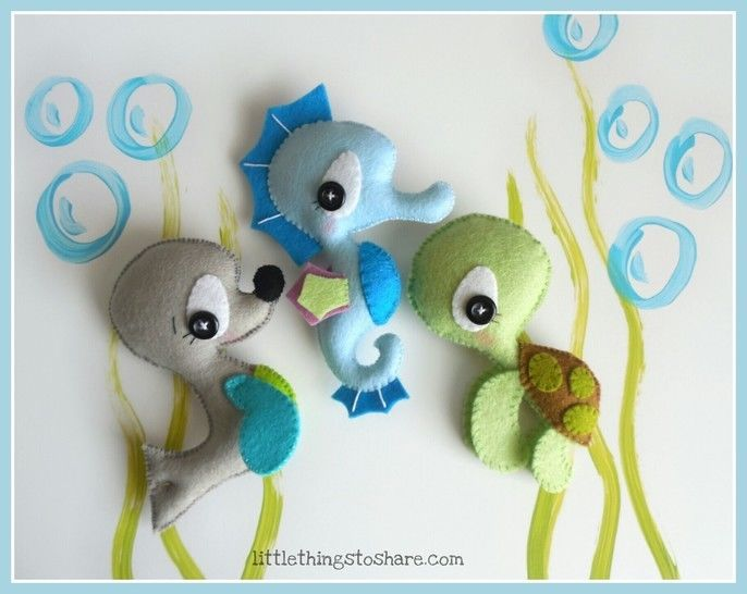 Sea Animals patterns-Seahorse, Seal, Turtle-Ocean Animals at Makerist - Image 1