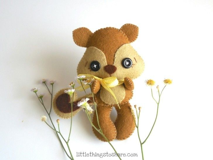 Acorn Squirrel PDF pattern-Woodland animals-chipmunk toy at Makerist - Image 1
