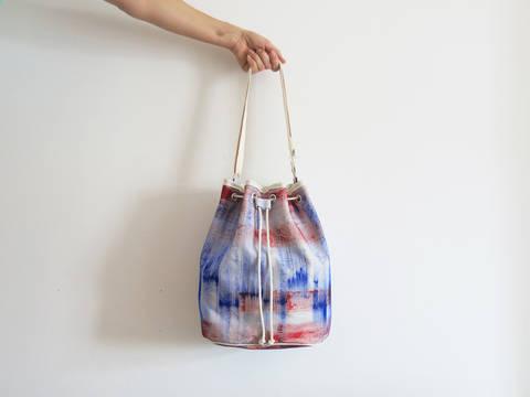 Tasche mit Kordelzug - Bucket Bag