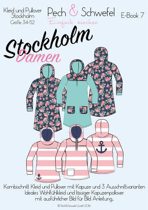 Ebook Kapuzenkleid und -pullover Stockholm für Damen